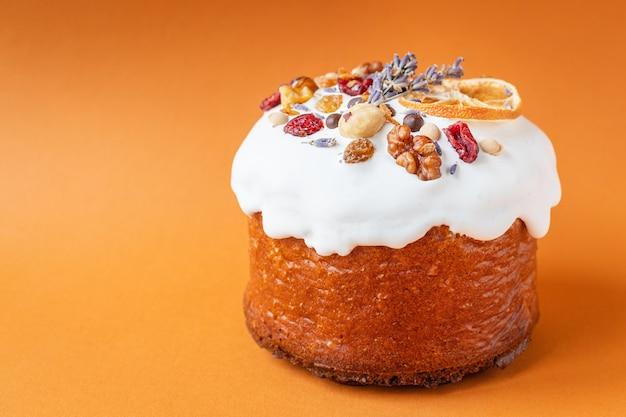 Ciasto wielkanocne szczęśliwy wakacje świeże pieczywo słodki deser bułka