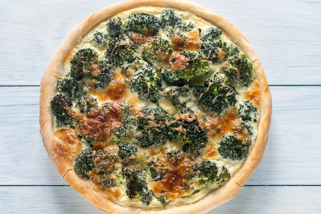 Ciasto z brokułami i serem