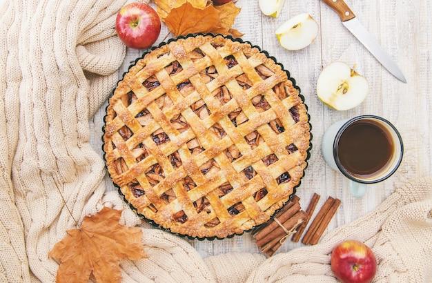 Ciasto z jabłkami i cynamonem.