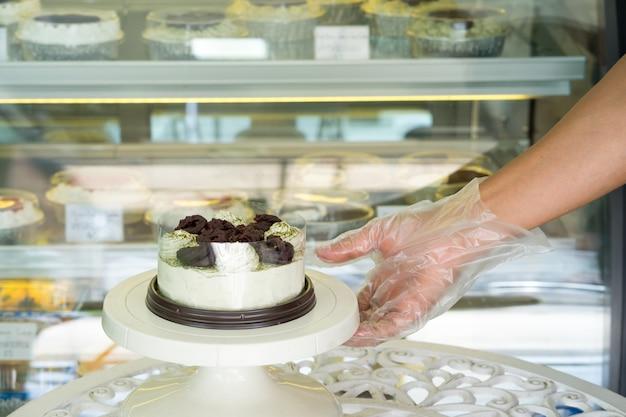 Ciasto z matchą i czerwoną fasolą
