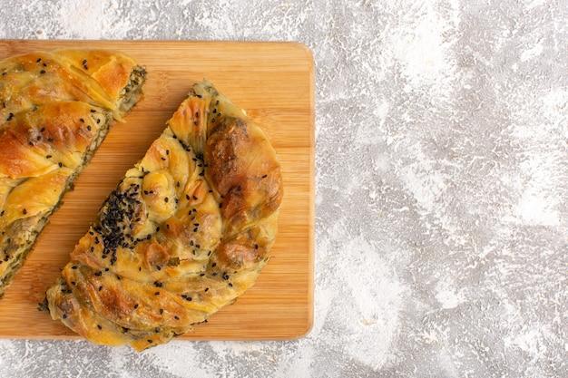 Ciasto z mięsem z bliska