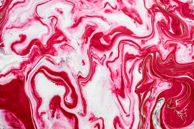 Ciekły atrament różowy marmur tekstury tło zaproszenie na ślub