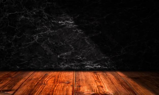 Ciemna marmurowa tekstura ściana z drewnianym szablonem tła produktu podłogowego