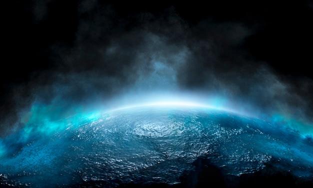 Ciemna pusta futurystyczna scena