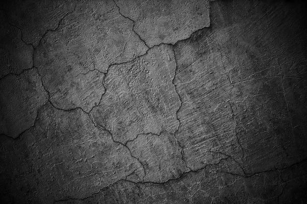 Ciemna ściana, miejska tekstura czarna powierzchnia