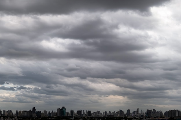 Ciemne chmury burzowe przed deszczem