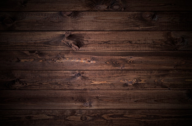 Ciemne drewniane