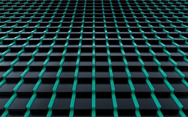 Ciemne luksusowe abstrakcyjne tło renderowania 3d