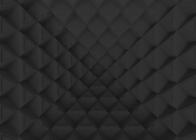Ciemne złudzenie styl trójkąta wzór ściana tło.