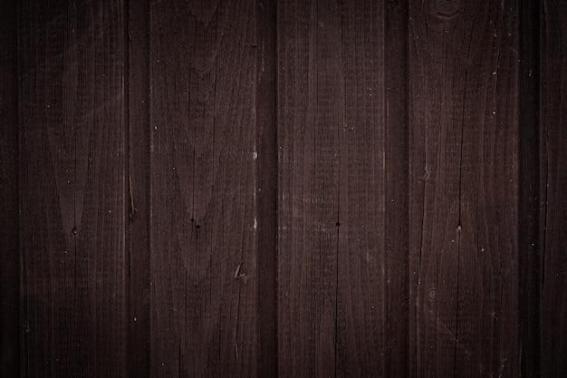 Ciemnobrązowa drewniana ściana z pionowymi deskami, tekstura tła