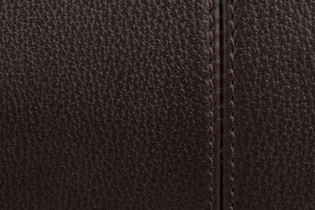 Ciemnobrązowa skóra naturalna tekstura tło
