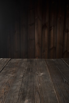 Ciemnobrązowy tabeli drewna
