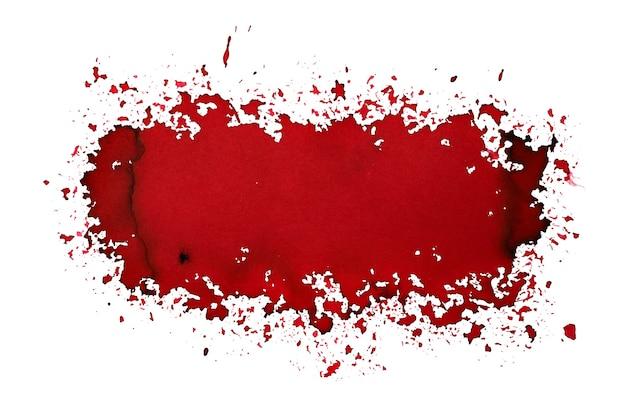 Ciemnoczerwona plama w sprayu. street art styl streszczenie tło. ilustracja rastrowa