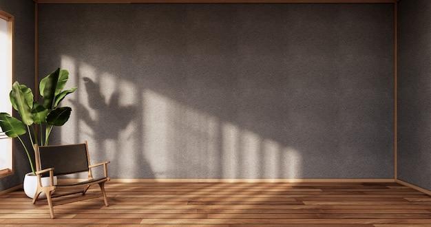 Ciemnoniebieska sypialnia japoński design na tropikalnym wnętrzu pokoju i podłodze maty tatami. renderowanie 3d