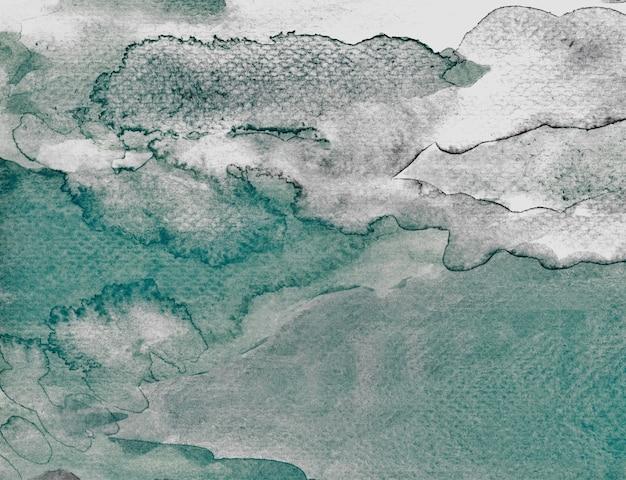 Ciemnozielony pastelowy teksturowany akwarela streszczenie handmade oryginalny organiczny plik skanowania highres