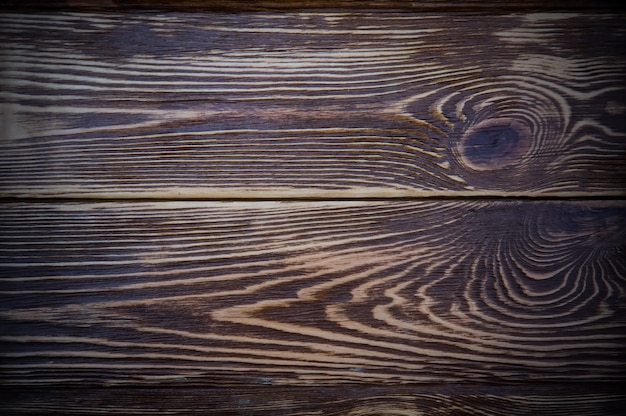 Ciemny drewniany stół płaski widok z góry tekstura tła