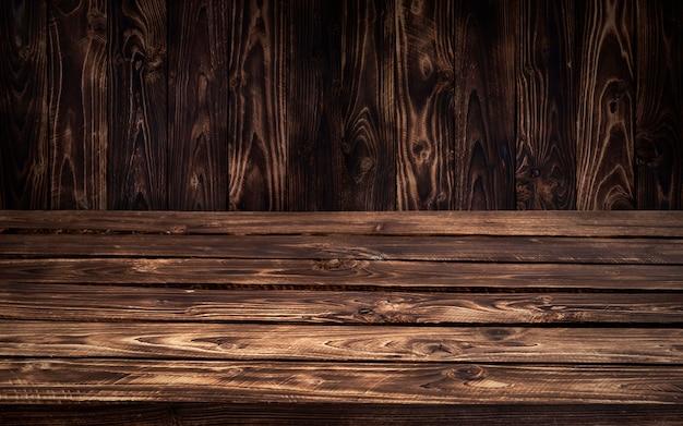 Ciemny drewniany stół tło