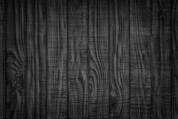 Ciemny las. czarny rustykalny drewniany stół ściana widok z góry