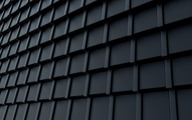 Ciemny luksusowy kwadratowy kształt abstrakcyjne tło renderowania 3d