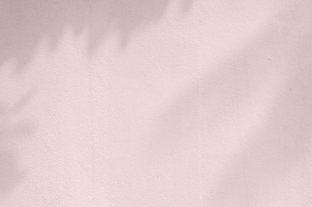 Cień liści na różowej ścianie