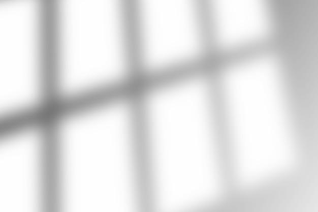 Cień nakładki okna na białym tle tekstury. służy do dekoracyjnej prezentacji produktów.