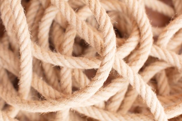 Ciepłe tekstury liny morskie