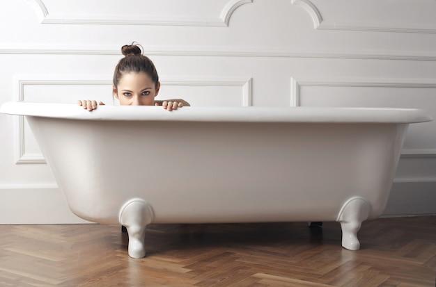 Ciesząc się kąpiel