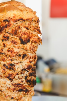 Cięte mięso shawarma