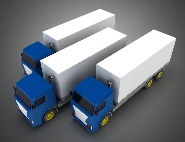 Ciężarówka z kontenerem. ilustracja 3d