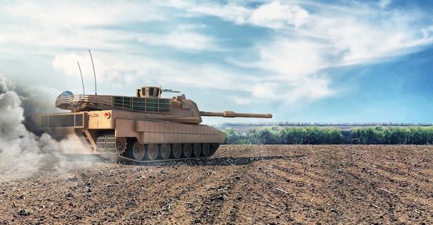 Ciężki czołg wojskowy w battlefield