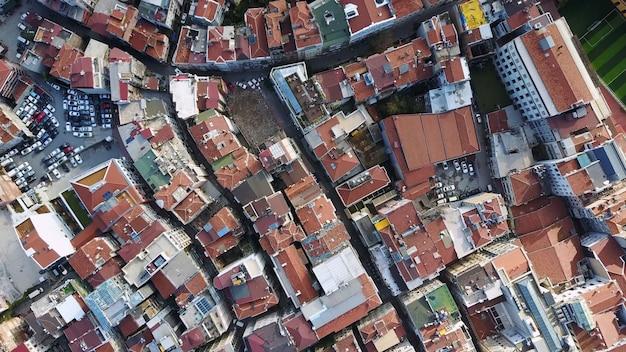 Cityscape istanbul, turcja. widok z lotu ptaka
