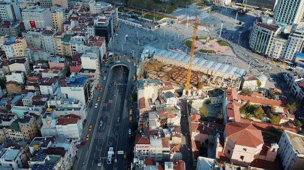 Cityscape stambuł, turcja. zdjęcie z lotu ptaka