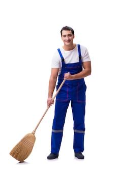 Cleaner przy budową odizolowywającą na bielu