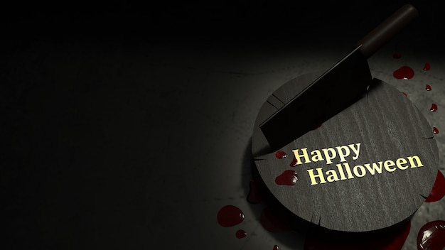 Cleaver nóż i krew na halloween koncepcji.