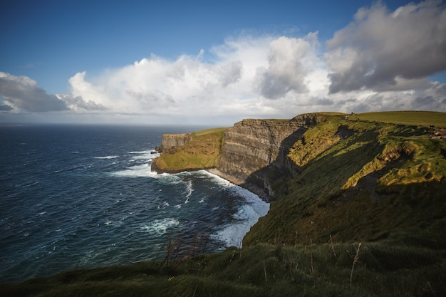 Cliffs of moher z cloudscape