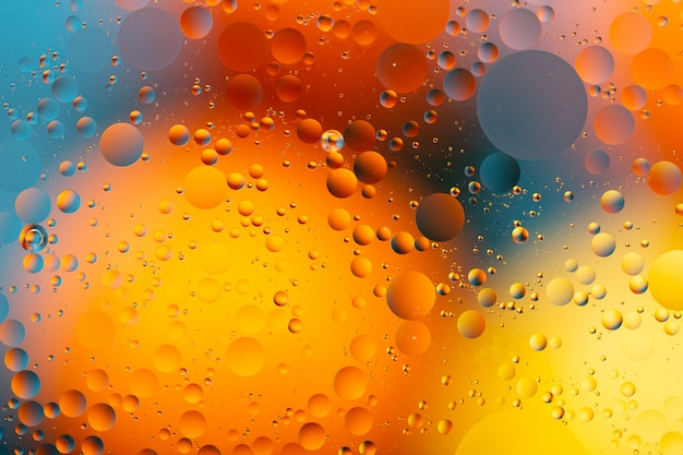 Close-up abstrakcyjne wody i oleju w efekcie oświetlenia tęczy