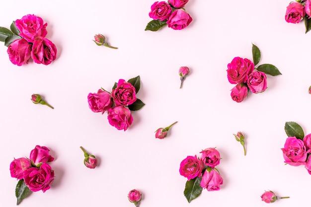 Close-up asortyment płatków róży