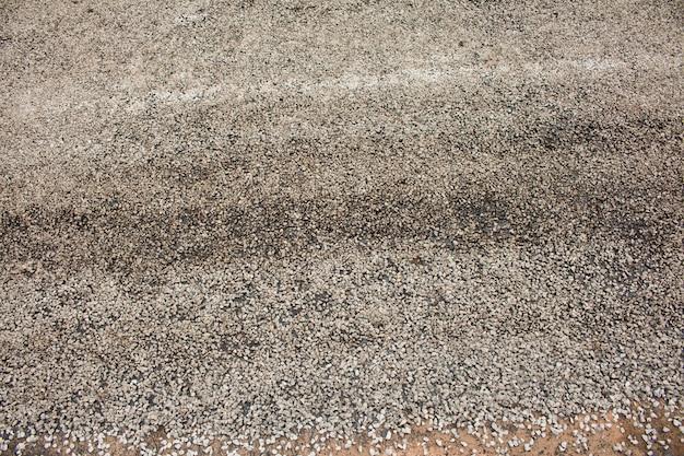 Close-up asphalt na drodze w budowie.