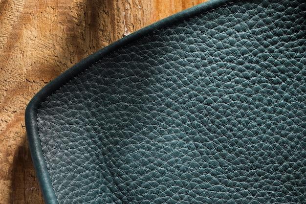 Close-up czarna teksturowana skóra