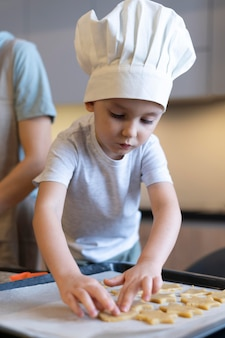 Close-up dzieciak co ciasteczka