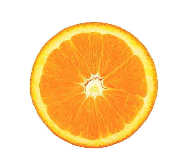 Close-up na świeży dojrzały plasterek pomarańczy