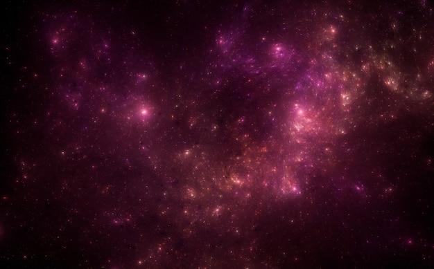 Close-up na tle pola gwiazdy
