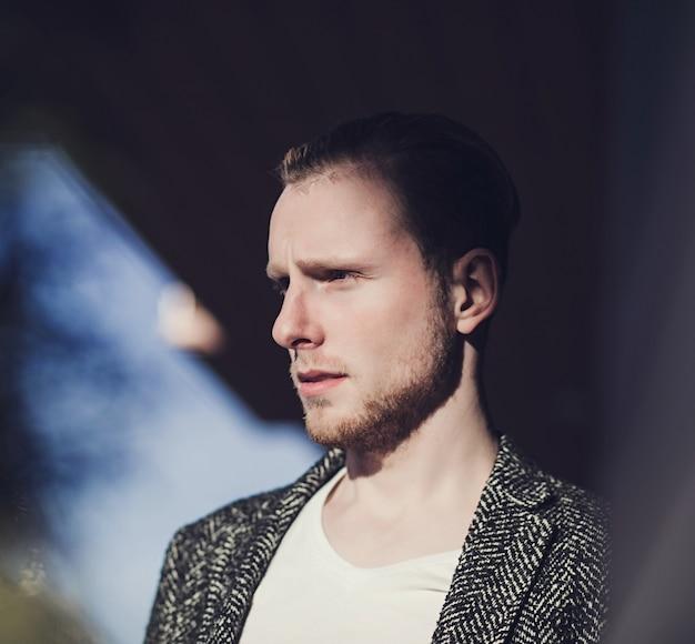 Close-up portret mężczyzny