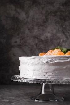 Close-up pyszne ciasto z owocami