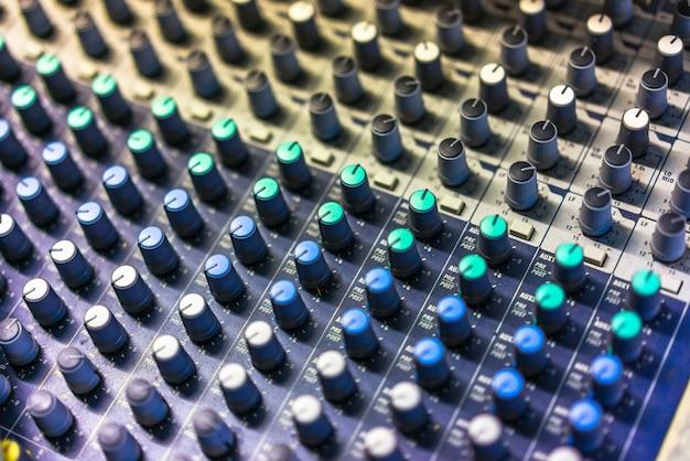 Close-up sound mixer