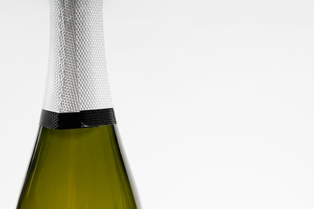 Close-up szampan z kopiowaniem przestrzeni