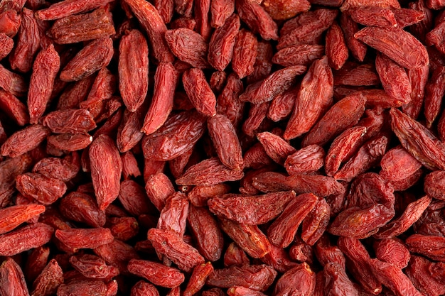Close-up widok czerwonych suszonych owoców