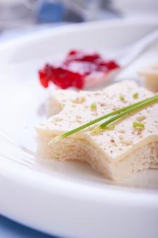 Close-up z chleba z serem