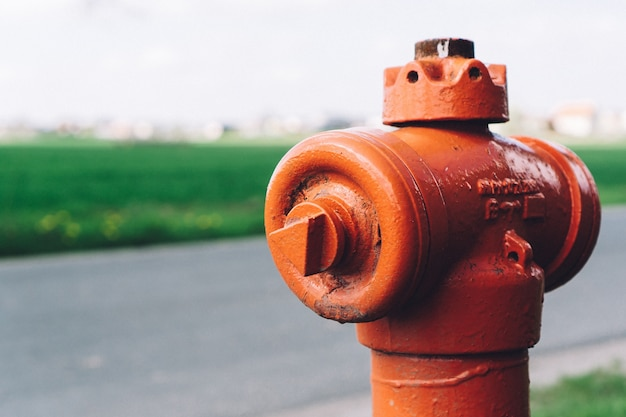 Close-up z hydrantu na ulicy