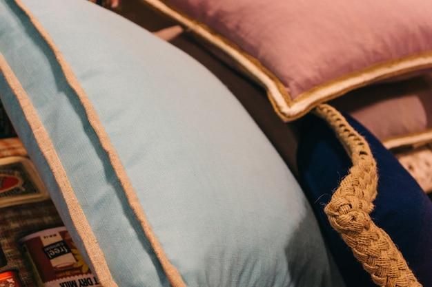 Close-up z poduszkami